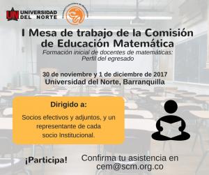 COMISIÓN DE EDUCACIÓN MATEMÁTICA – Sociedad Colombiana de Matemáticas